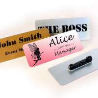 Personalised 65x25mm Metal Name Badges (PIN Fastening)