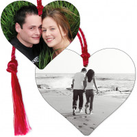 Personalised Metal Heart Photo & Text Bookmark