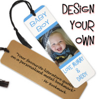 Personalised Metal Photo & Text Bookmark
